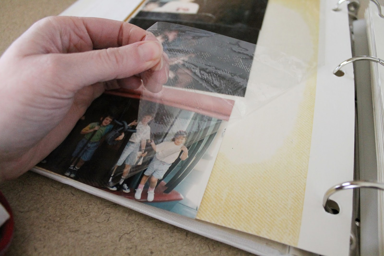 sticky photo albums, old photo albums, what to do with old photos, non digital photos