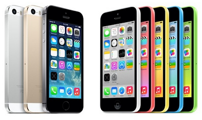 Space gray and blue are the most popular colors for iPhone 5s and 5c