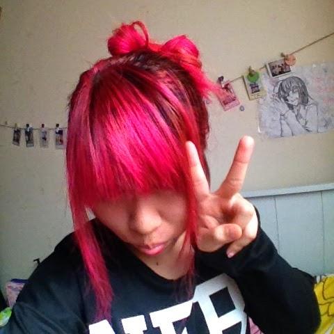 Hot pink, Magenta, Hair