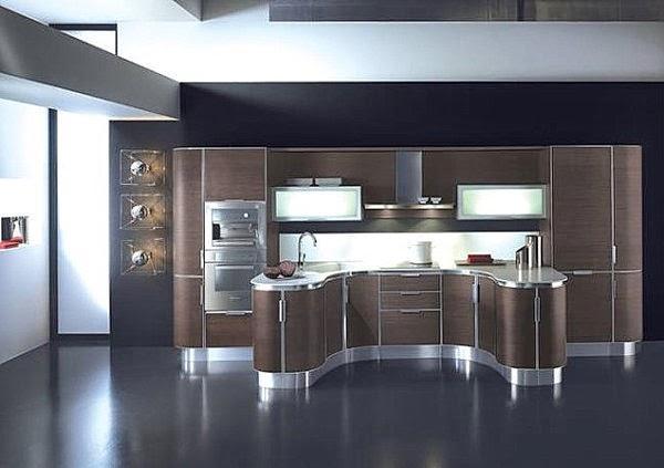 Espectaculares Cocinas Modernas Color Marr N Colores En Casa