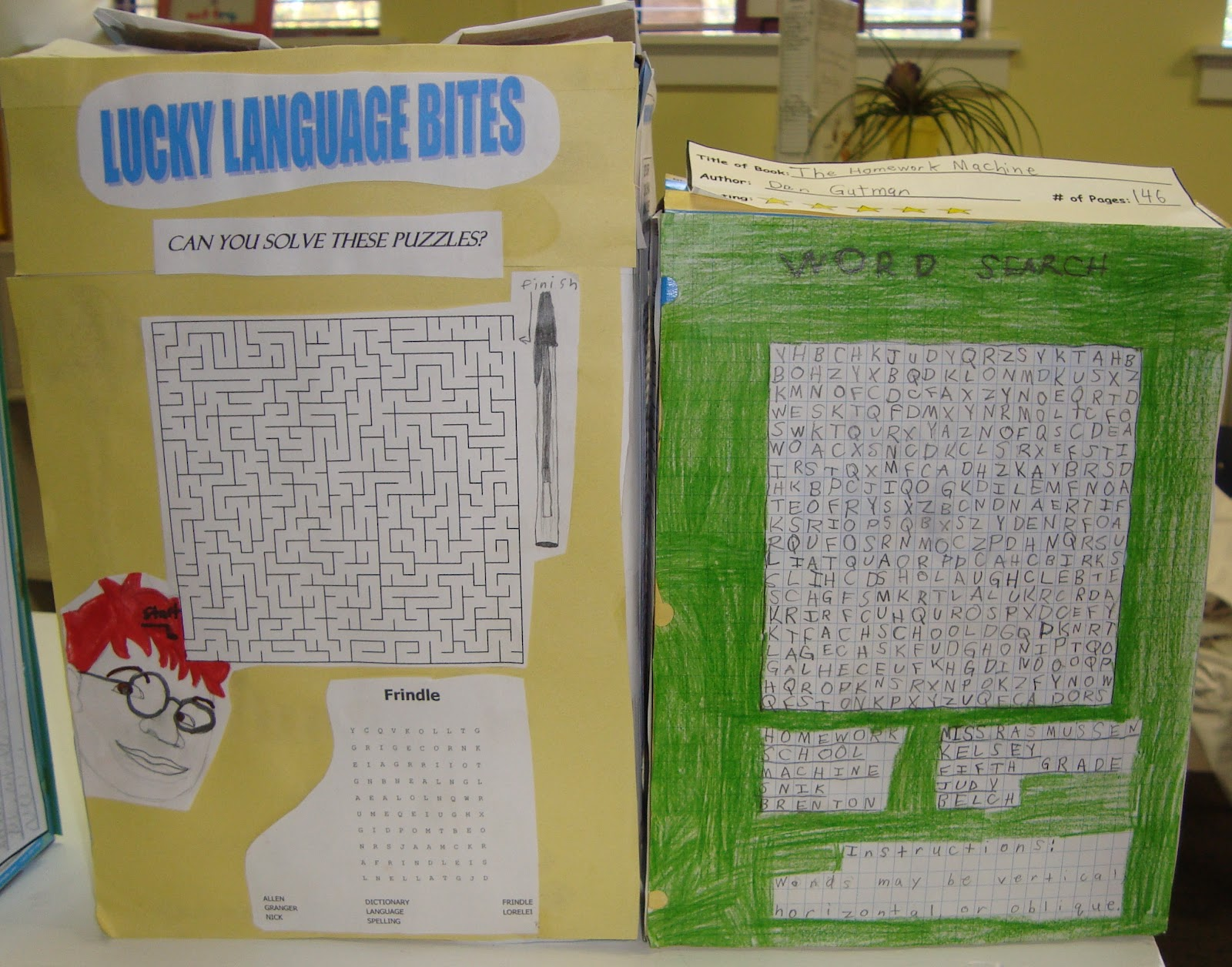 cereal box book report games