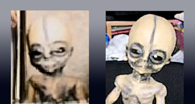 Bushman Alien Compared with KNown Toy-Dummy Alien