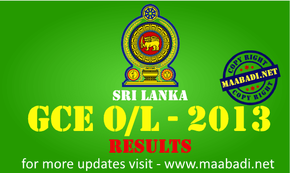 GCE OL Results 2013
