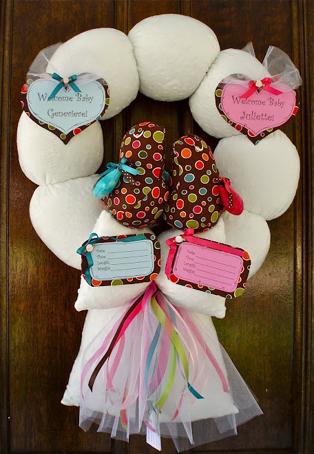 67. custom twice blessed baby wreath