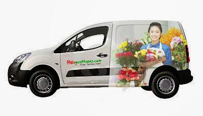 Mô hình xe giao hoa trong tương lai của Hoa Yêu Thương