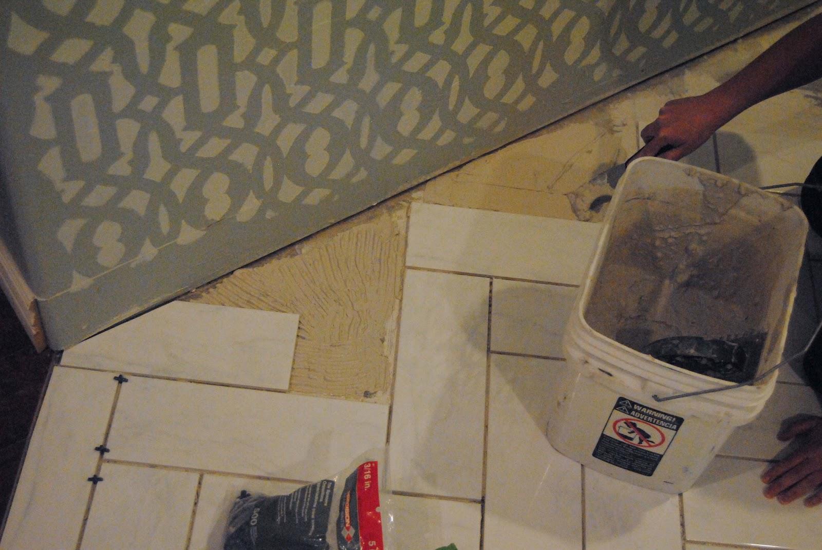 Visual eye candy how to tile a herringbone floor part i - How To Tile A Herringbone Floor Part I