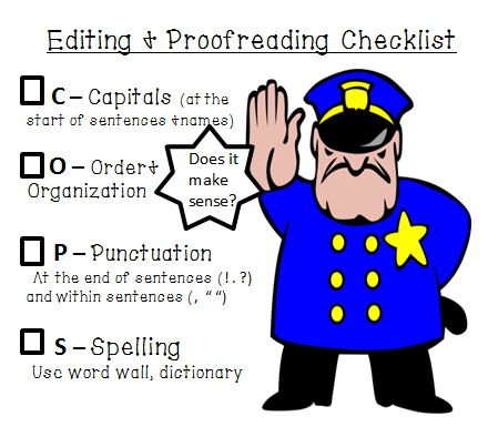 Editing and Proofreading FREEBIE - Mrs. Spangler in the Middle