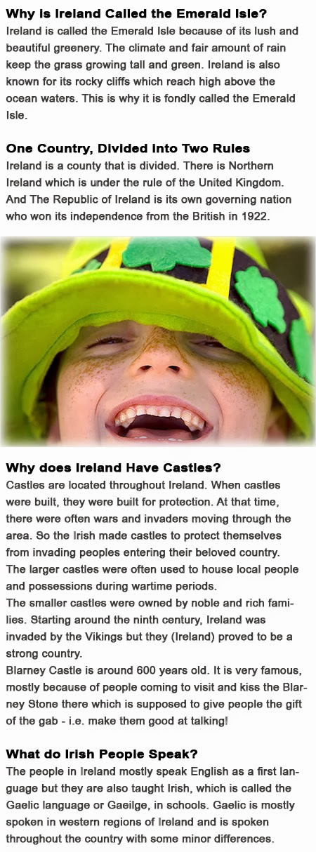 Information about Ireland for kids