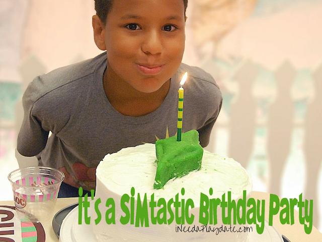 Sim plumbob cake was a win!