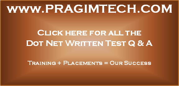 dot net written test questions answers