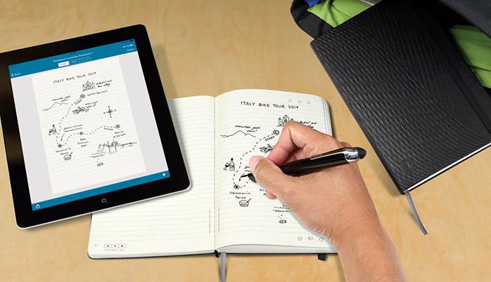 Moleskineノートの書いたものをそのままiPadに写せる「LIVESCRIBE NOTEBOOK 」