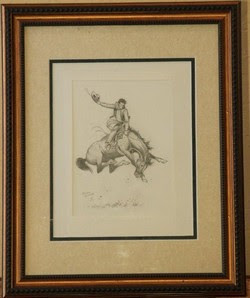 Stan Lynde Bronc Rider Illustration Print