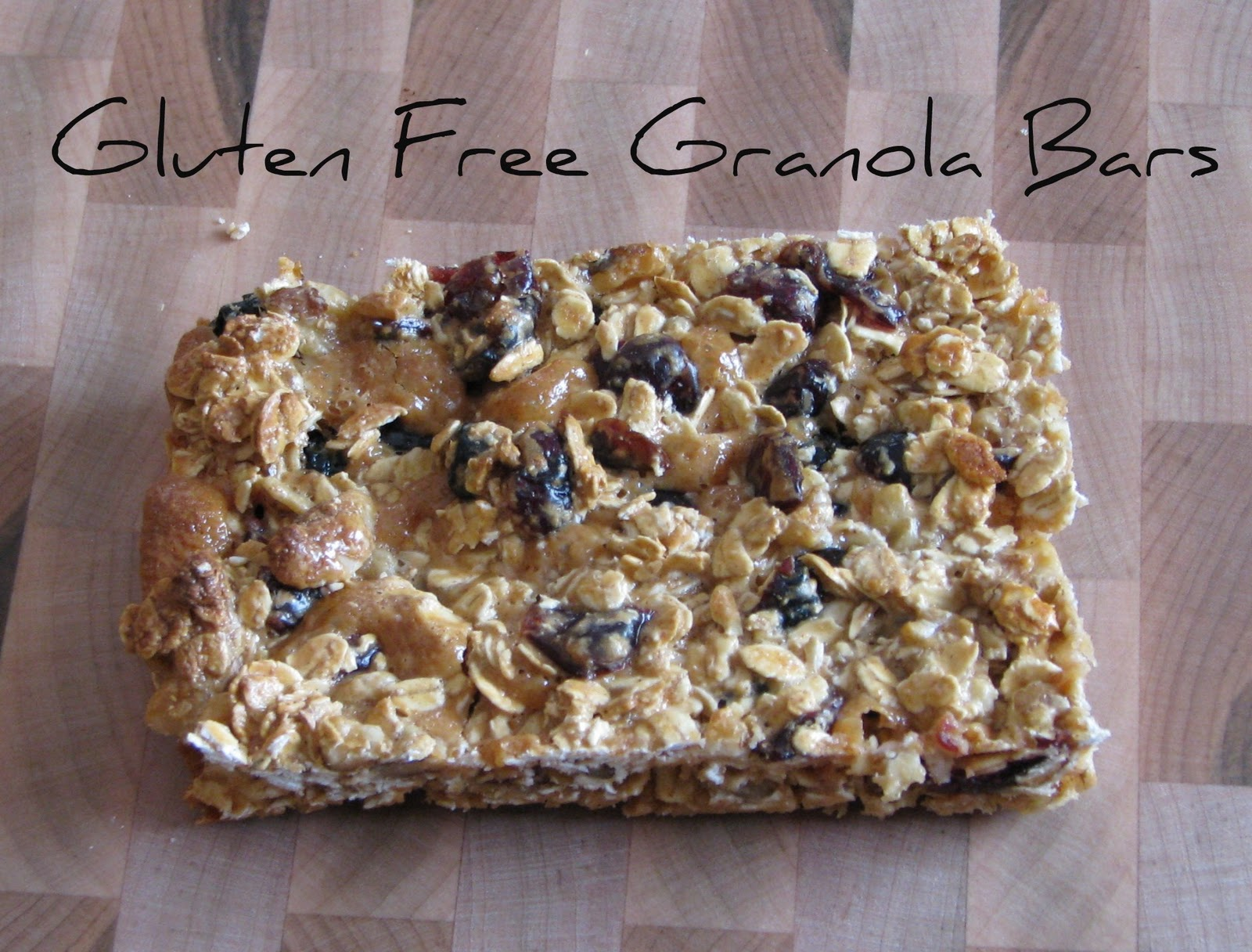 Adventures of D and V: Adventures in Gluten Free Cooking: Granola Bars