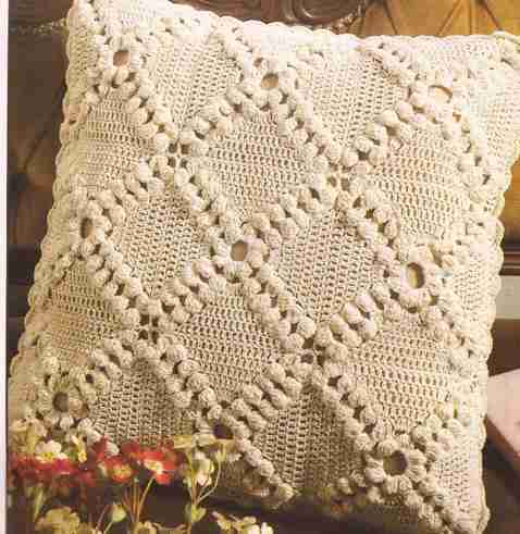 Cubre Cojín a Crochet
