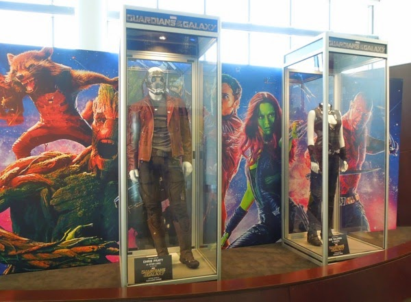 Guardians of the Galaxy movie costume exhibit