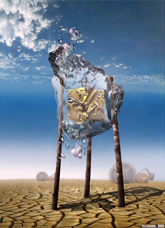 Max Mitenkov vimark deviantart ilustrações montagens photoshop surreal tempo relógios
