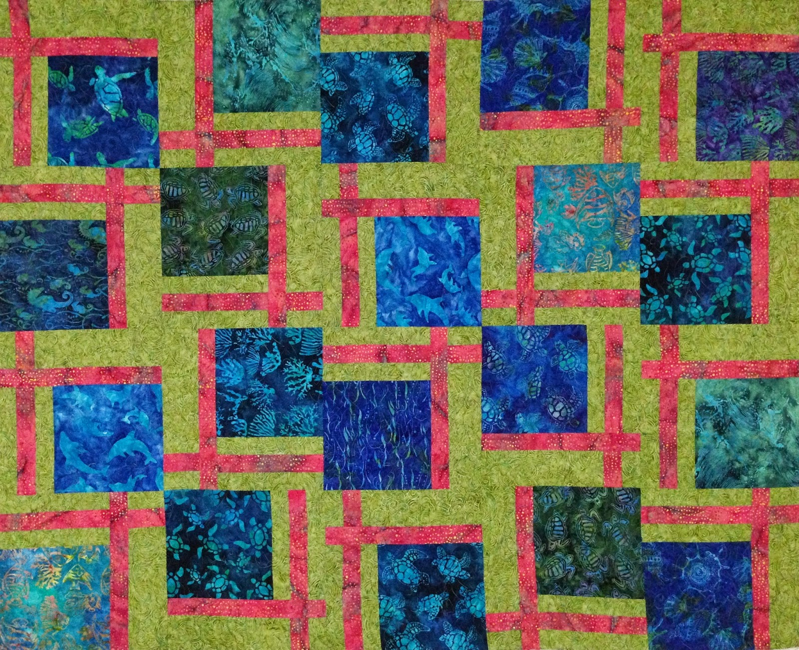Kristi Dowding's Turtles in the Sea Quilt