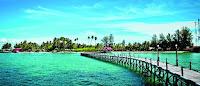 Tak diragukan lagi bila berbicara mengenai keindahan alam yang ada di Indonesia. Bahkan,  pulau Bali merupakan Pulau Surga yang telah dikenal sejak berpuluh-puluh tahun silam. Kini  banyak tempat yang mulai dapat kita kunjungi dan menjadi incaran para pelancong dari  mancanegara.   1. Kepulauan Derawan di Kalimantan Timur    Kepulauan Derawan ini merupakan sebuah kepulauan yang disinyalir sebagai tempat kedua  terkaya di dunia dalam hal keragaman biota laut setelah Pulau Raja Ampat. Daya tarik dari   Kepulauan Derawan ini adalah Danau Kakaban dan Danau Purba, yang telah berusia jutaan tahun  yang di dalamnya terdapat jutaan ekor ubur-ubur dan kehilangan daya sengatnya, sehingga aman  bila berenang bersama ubur-ubur di tempat tersebut tanpa takut tersengat.  Di tempat ini juga dapat dijumpai berbagai aktivitas penyu hijau, mulai dari penyu yang sedang  berenang santai di air yang jernih hingga aktivitas proses penyu bertelur. Tak hanya itu saja, di  dalam perairan ini kita dapat menikmati pemandangan bawah laut. Keragaman terumbu karang  dalam berbagai bentuk dan warna terlihat sangat rapat di dalam lautan.  2. Desa Sawarna di Banten    Desa Sawarna merupakan surga tersembunyi di Indonesia berikutnya. Desa Sawarna terletak di  bagian Selatan kabupaten Lebak di Banten yang berbatasan langsung dengan kabupaten  Sukabumi. Di sini dapat ditemukan jembatan gantung yang dibuat dari pohon sepanjang 60 meter.   Di bawah jembatan gantung tersebut terlihat mengalir sungai yang cukup deras dan jernih. Selain  itu, keindahan dari Pantai Sawarna tidak kalah menariknya dibandingkan dengan pantai-pantai  yang terkenal lainnya.  Tak hanya Pantai Sawarna saja yang terdapat di Desa Sawarna, namun terdapat pula 2 (dua) pantai  lainnya, yakni Pantai Karang Taraje dan Pantai Tanjung Layar. Kedua pantai tersebut sangatlah  indah dan mempunyai keunikan tersendiri. Pantai Karang Taraje atau yang berarti tangga itu  menghiasi bagian barat pantai yang menyerupai bentuk tangga.  Sementara itu,