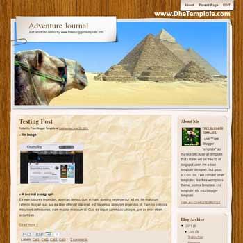 Adventure Journal blogger template convert WordPress to Blogger template