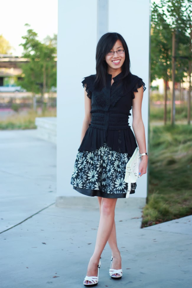 peplum skater circle marc jacobs daisy skirt