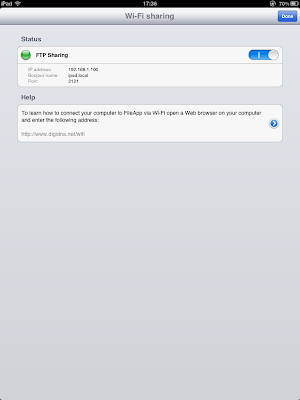 FileApp Wi-Fi sharing