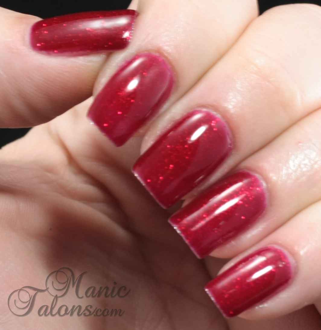 Gelaze by China Glaze Soak Off Gel Polish Ruby Pumps Swatch