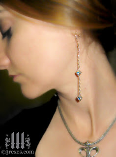 Studded BLUE TOPAZ Jeweled Wedding Earrings
