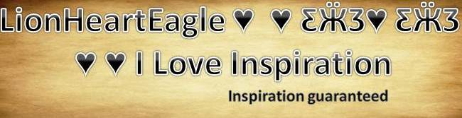 LionHeartEagle  I Love Inspiration