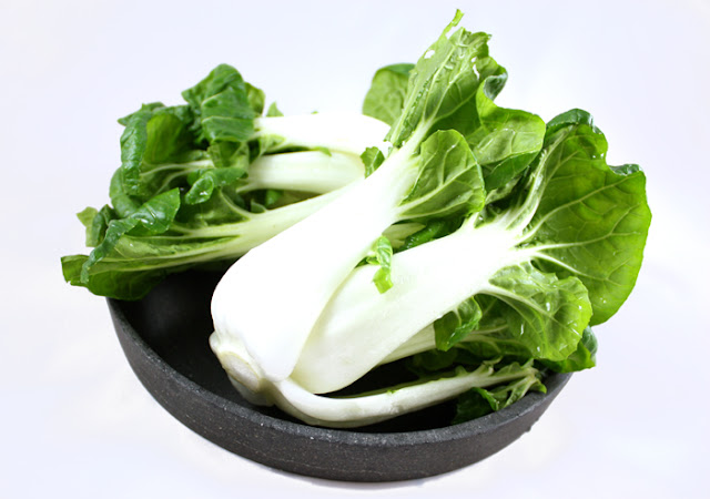 Oppskrift Woket Stir Fried Pak Choi Vegan Forrett Asiatisk