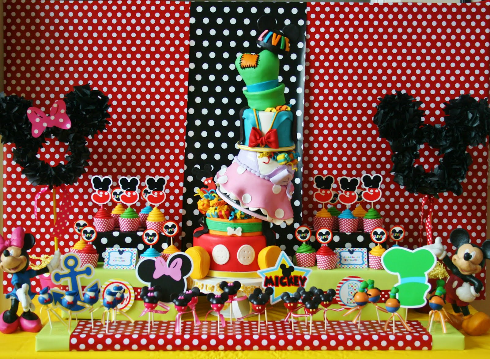 Disney Theme Decorations Mickey Mouse Clubhouse Birthday Party The Ojays Mickey Mouse