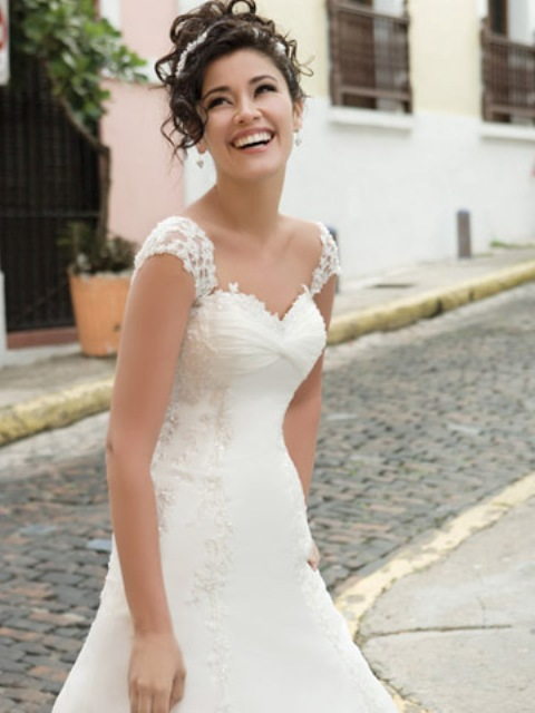 All about wedding short sleeves wedding dress for Capped sleeves wedding dress