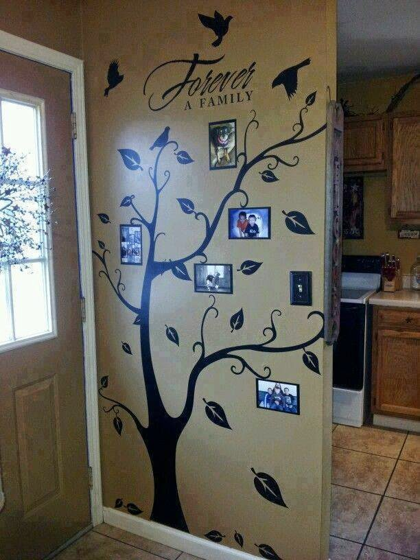 Mil artes mujer decoraci n rboles dibujados y portaretratos for Diy family tree wall mural