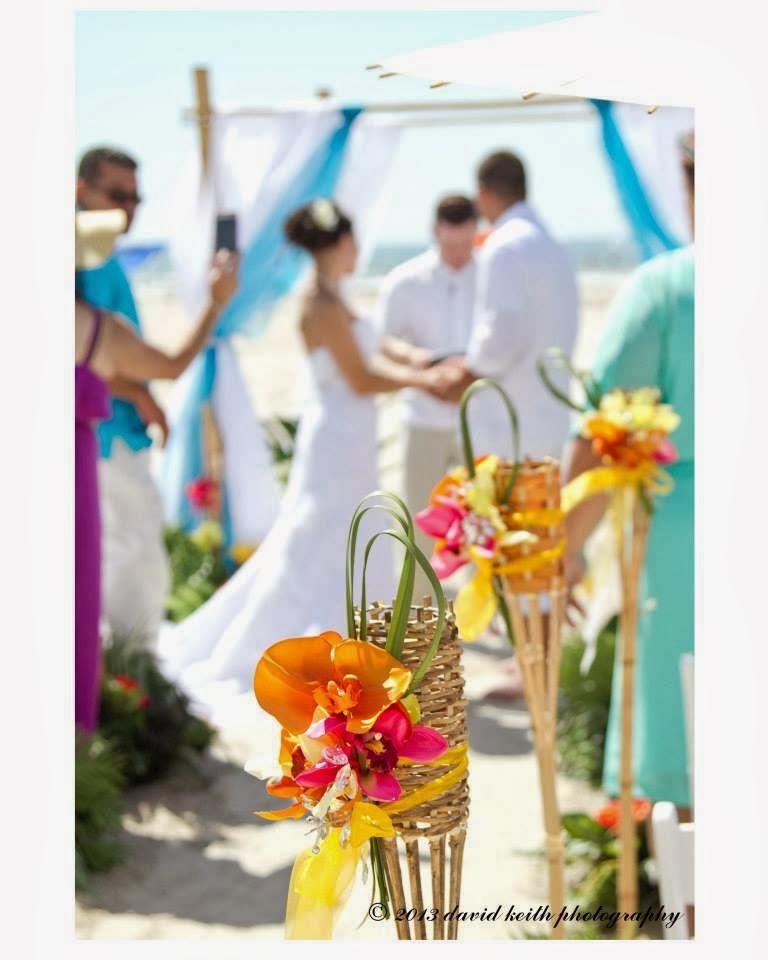Coastal chic events beach wedding arches real weddings for Tropical decor