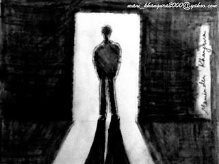 The Dark Room Silhouette by Maninder Pal Singh