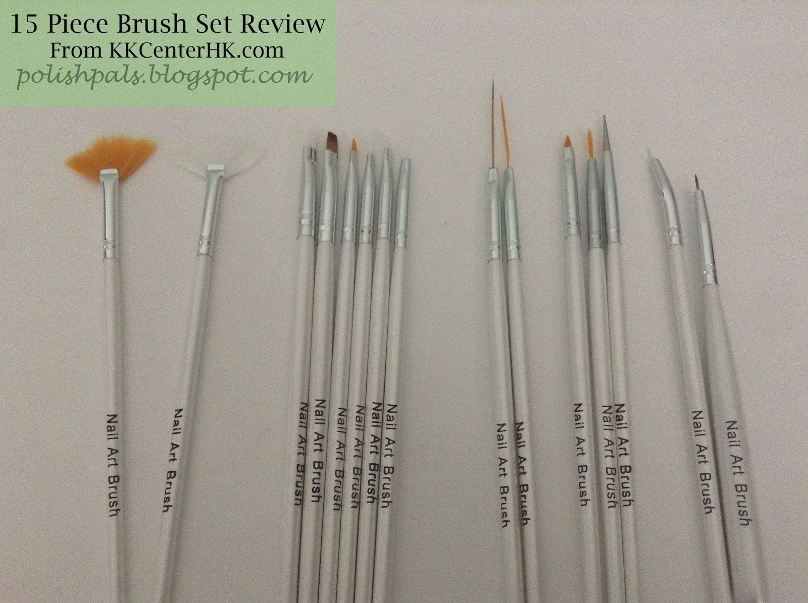Polish Pals: 15 Brush Set Review {From KKCenterHK.com}