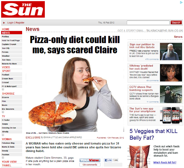 pizza-only diet