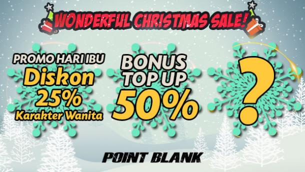 "Sambut Natal, Point Blank Garena Indonesia Bagi Cash Gratis Lewat Event ""Wonderful Christmas Sale"""