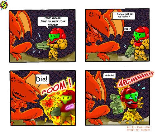 Metroid Comic 2 por Fugiri-Shi