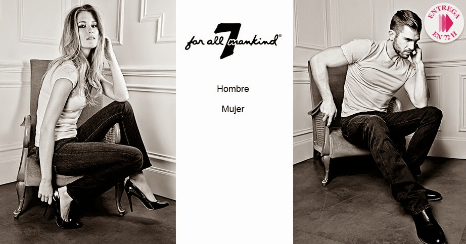 7 for All Mankind, oferta de pantalones para hombre y mujer