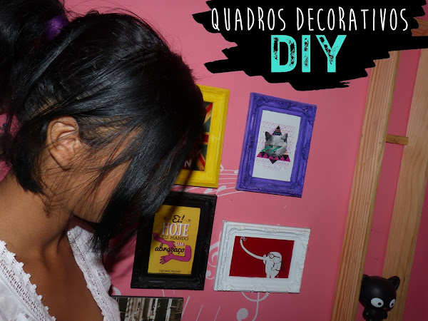 Diy: decorando a parede com quadros coloridos