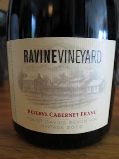 Ravine Vineyard Reserve Cabernet Franc 2012 - VQA St. David's Bench, Niagara Peninsula, Ontario, Canada (90 pts)