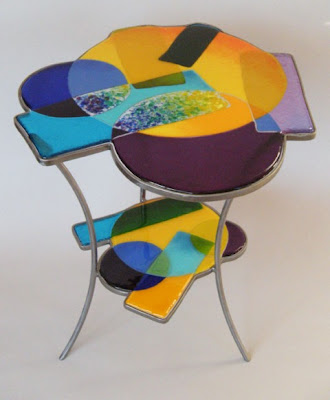 Unique stained glass table #3