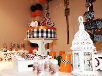 detalhes decorativos da festa de aniversário
