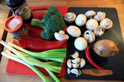 Oppskrift Grønnsak Chop Suey Vegetar Asiatisk Wok Soyasaus