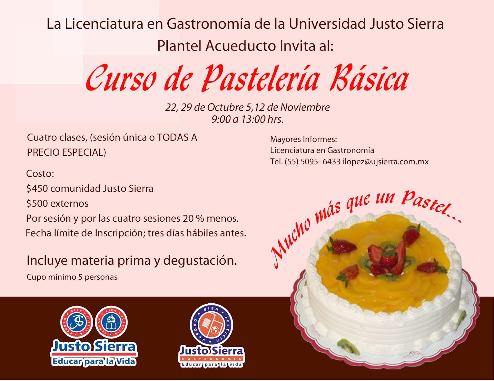 Educar para la vida curso de pasteler a b sica plantel - Curso cocina basica ...