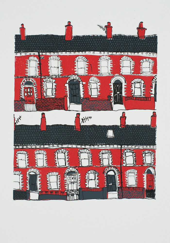 Belfast Terraces print by Flax Fox, Belfast