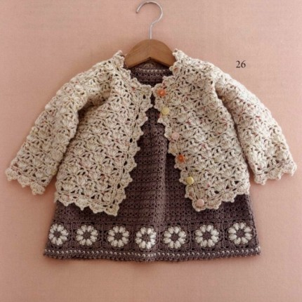 Free Crochet Pattern Little Girl Sweater : Crochet For Children: Little Girl Crochet Cardigan - Free ...