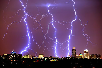 Lightning in Johannesburg