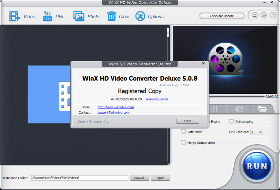 Видео: How To Install WinX HD Video Converter Deluxe 5 5 3 Keygen On PC HD.