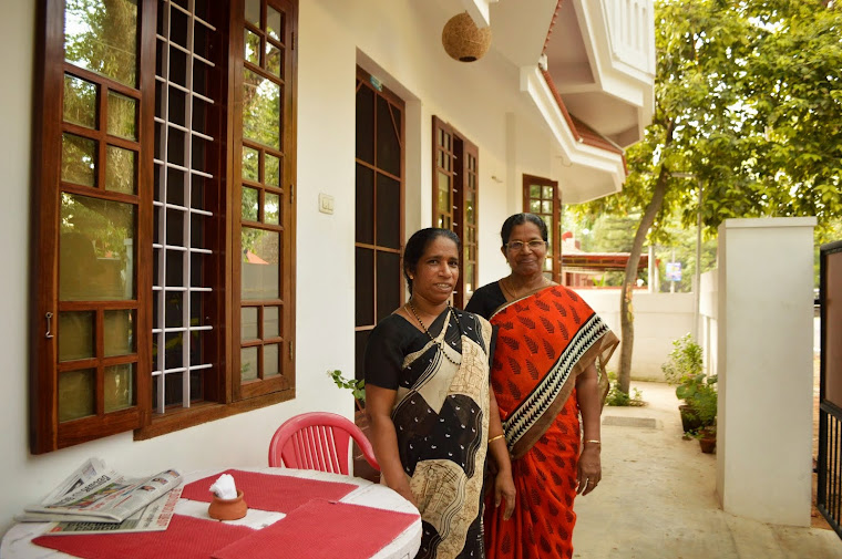 Our Mrs. Silvi Chechi (maid) and Mrs. Gracy Chechi (cook)